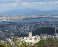 眉山からの街の眺め
